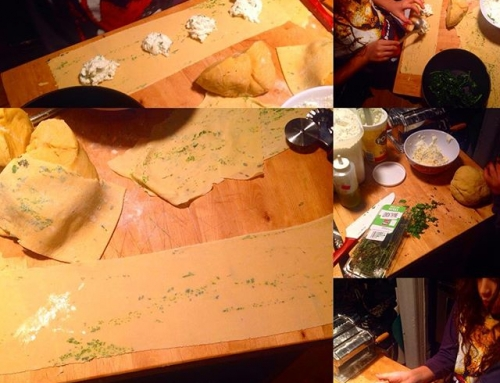 Making beautiful paper thin window pane ravioli filled