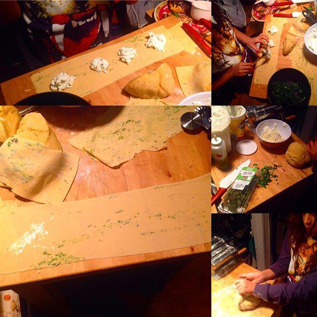 Making beautiful paper thin window pane ravioli filled