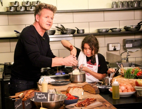 Cooking with Gordon Ramsay on good morning America