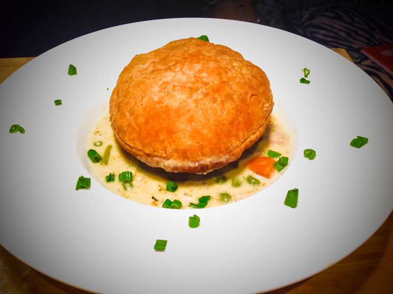 Modern Chicken pot pie.