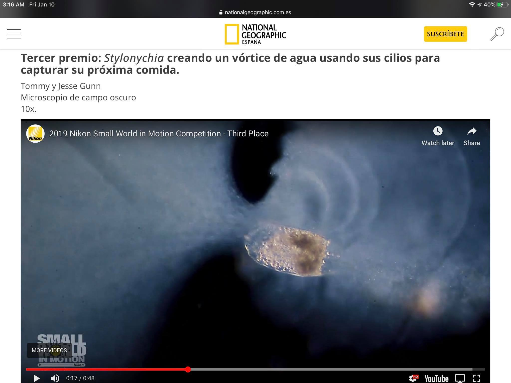 We made into National Geographic Espana!